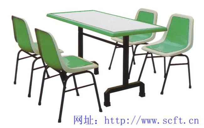 餐桌.快餐桌椅.中式快餐店桌椅.成都餐桌椅厂.四人连体分体